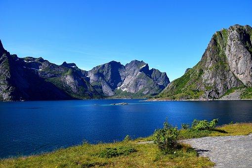 Mountains, Hill, Lofoten, Norway, Scandinavia, Svolvær