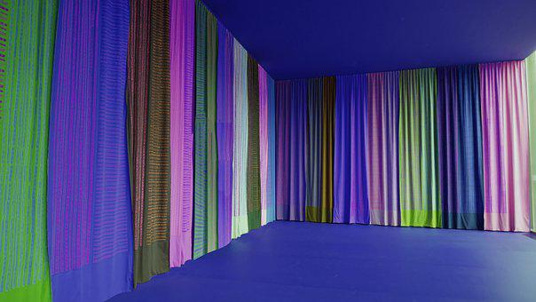 Space, Curtains, Stage, Theater, Colorful, Fabric