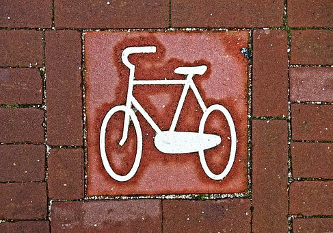 Bicycle, Icon, Traffic Sign, Symbol, Street, Tile