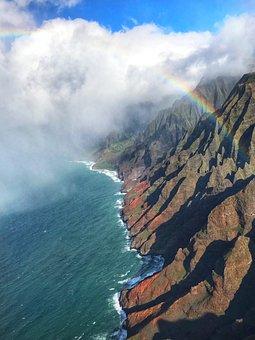 Kauai, Hawaii, Coastline, Ocean, Travel, Nature, Island