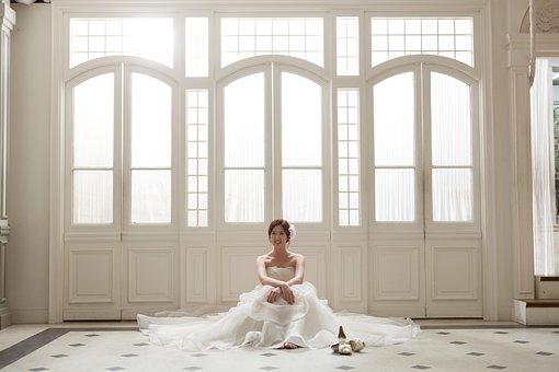Priest, Wedding Dress, Wedding, Marriage, White Dress