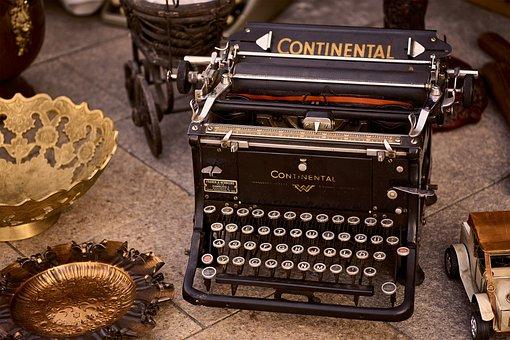 Written, Typewriter, Car, Traditional, Decorative, Old