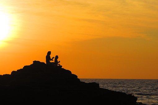 Yoga, Sunset, Travel, Goa, India, Meditation