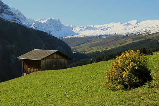 Graubünden, Switzerland, Alpine, Mountains, Alp