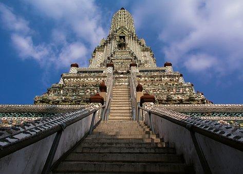Wat Arun, Thailand, Bangkok, Building, Architecture