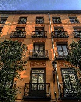 Architecture, City, Buildings, Madrid, Spain, Tourism