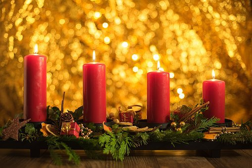 Advent, Fourth, Candles, Christmas, Fourth Candle