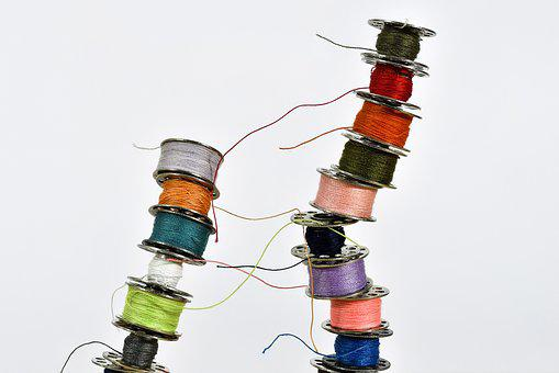 Thread, Yarn, Sew, Sewing Thread, Thread Spool, Close