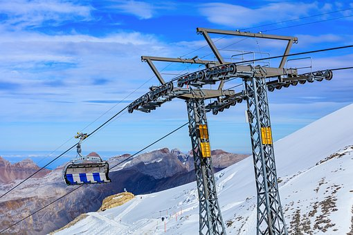 Overhead, Cable Car, Cable, Titlis, Switzerland, Cloudy