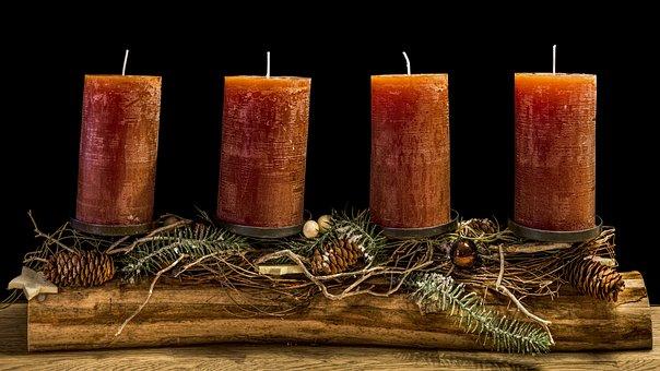 Advent Wreath, Christmas Wreath, Candles, Decoration