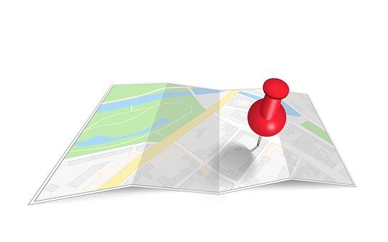 Map, Pin, Bug, Cartography, Direction, Destination