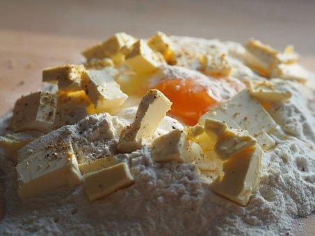 Bake, Dough, Egg, Butter, Flour, Sugar, Knead