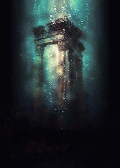 Underwater, Fantasy, Mystic, Digital Creation