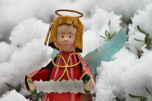 Angel, Figure, Snow, Christmas, Snowy, Decoration