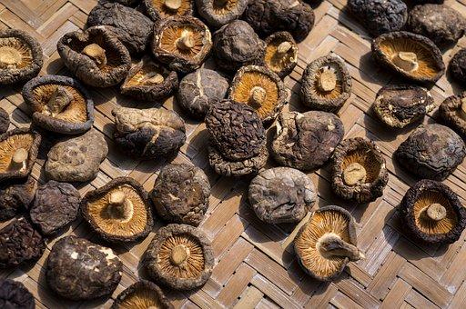 Food, Shiitake Mushrooms, Dried, Mẹc Bamboo