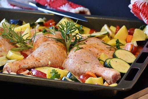 Chicken, Raw, Oven, Food, Eat, Frisch, Cook, Garlic