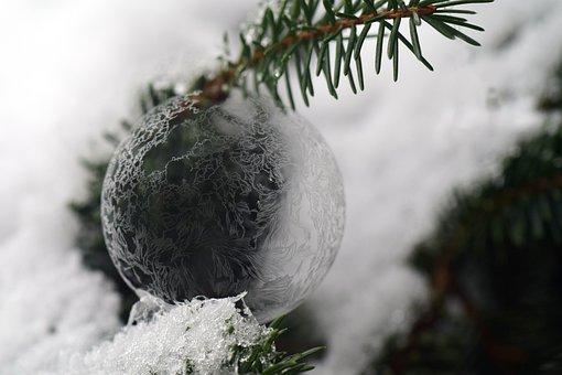 Ball, Ice Ball, Frosty, Frozen, Soap Bubble