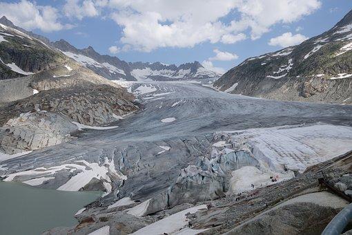 Switzerland, Glacier, Alpine, Furka, Grimsel Pass