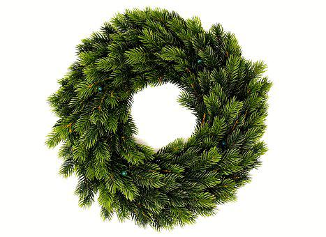 Fir Wreath, Holly, Wreath, Green, Periwinkle