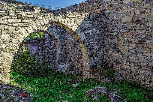Cyprus, Kato Drys, Village, House, Abandoned, Damaged