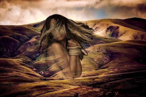 Woman, Landscape, Nature, Shackles, Iceland, Beautiful