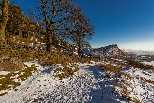 Winter, Landscape, Christmas, Snow, December