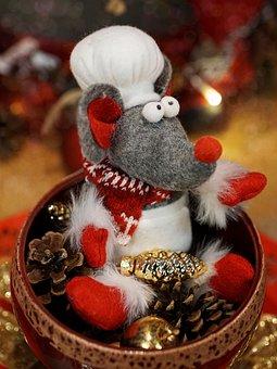 Mouse, Advent, Christmas Decoration, Decoration
