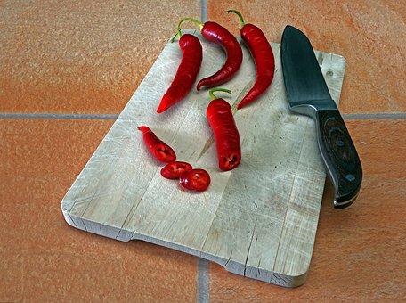 Chili, Sharp, Paprika, Food, Pepperoni, Red