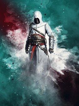 Manipulation, Assassin Creed, Photoshop, Splash, Powder