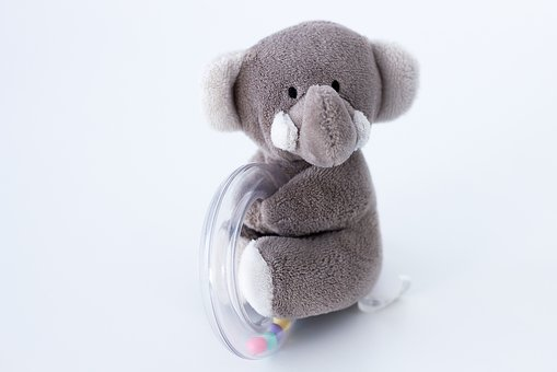 Decoration, Elephant, Game, Plush, Mood, Rattle