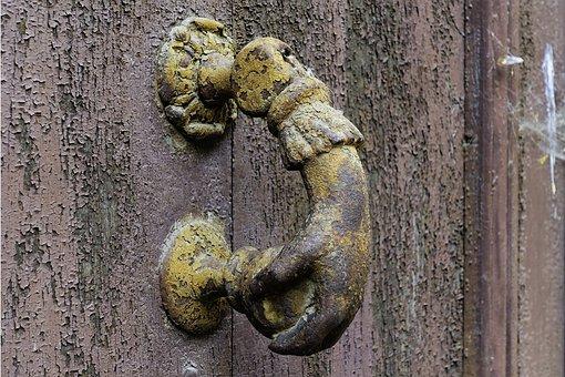 Saint Antonin Noble Val, Door Knocker, Door