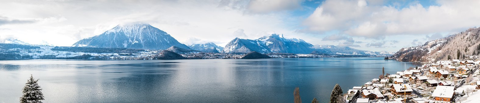 Merligen, Sneezing, Lake Thun, Winter, Apartments