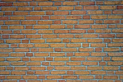 Brick Wall, Wall, Brick, Brickwork, Yellow Brick