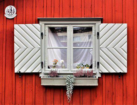 Window, Facade, Building, Stockholm, Wooden Fascia