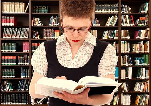 Woman, Person, Read, Head, Bookshelf, Know, Information