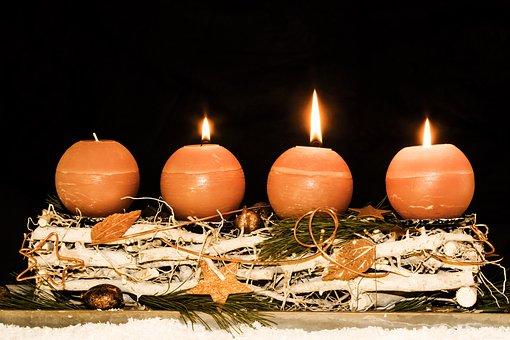 Advent Wreath, Advent, Third Advent, Christmas Time