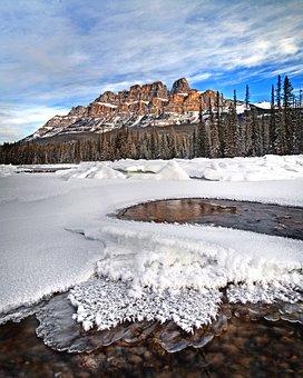 Castle Mountain, Banff, Alberta, Landscape, Mountain