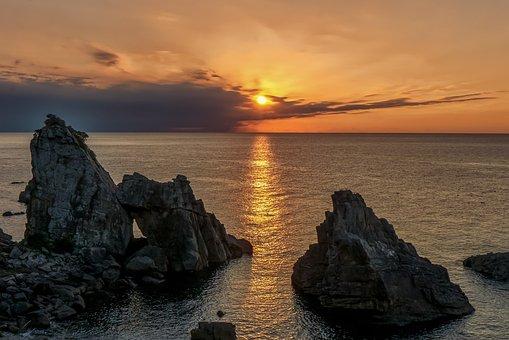 Japan, Kumamoto, Amakusa, Amakusa West Coast, Sunset