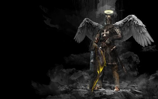 Knight, Angel, Middle Ages, Holy, Armor, Background