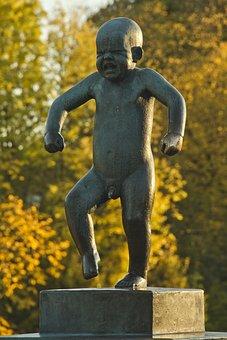 Angry, Bebe, Statue, Tourism, Tantrum, Autumn