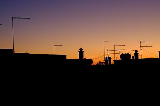 Sunset, Antennas, Orange