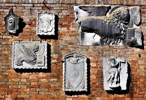 Statue, Lion, Tablets, Antique, Artwork, Sculpture