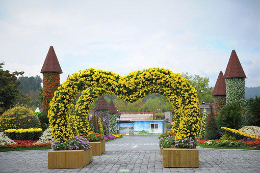 Festival, Chrysanthemum Flower, Autumn, Sculpture