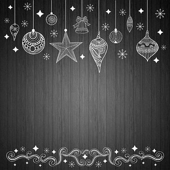 Background Christmas, Background Wood, Ornaments