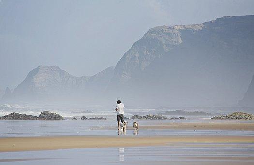 Beach, Sea, Sand, Summer, Holiday, Ocean, Blue, Beige
