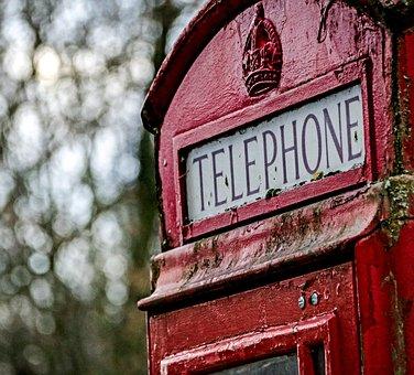 Telephone Box, Red, Symbol, Box, Telephone, Icon
