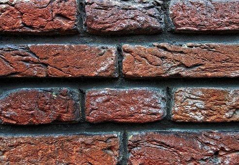Brick Wall, Wall, Red Brick Wall, Masonry