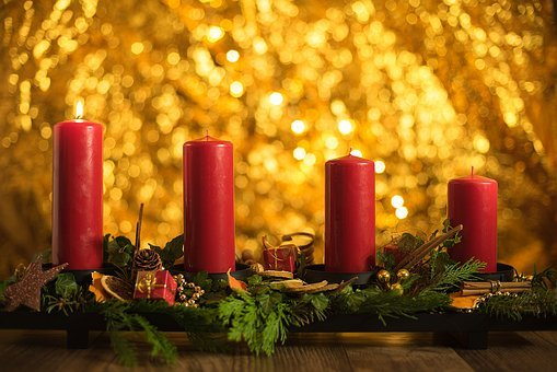 Advent, Christmas, Candles, Candlelight, Contemplative
