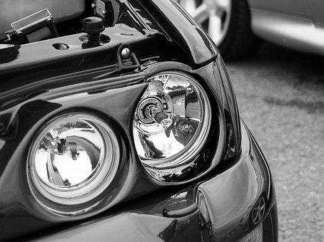 Headlight, Ford, Car, Vintage, Transportation