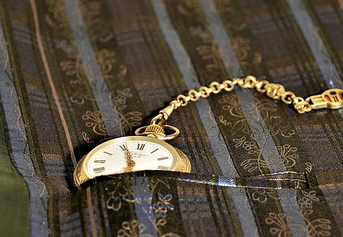 Pocket Watch, Close, Chain, Nostalgia, Time, Wind Up